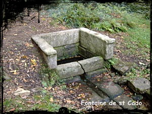 Le Cado du saint. dans Fontaines sacrées- bannalec-fontaine-st-cado
