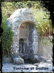 Saint patron. dans Fontaine de dévotion goulien-font-st-goulien.