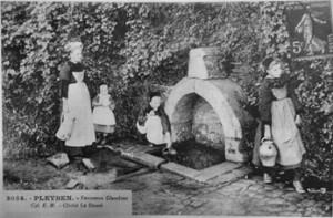 Rituel de l'épingle. dans Fontaine de guérison pleyben-laurent-300x197