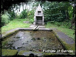 Eutrope armorié. dans Fontaine de guérison Plougonven-st-Eutrope