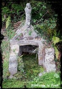 Christ. dans Fontaines sacrées- Lanveoc-Kersimon.
