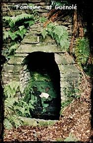 Guénolé. dans Fontaine de dévotion Lopérec-font-st-Guénolé.