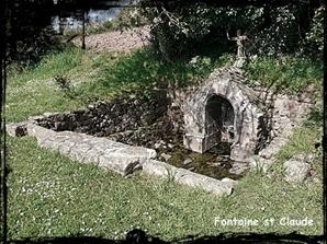 Saint protégé. dans Fontaine à voûte- Plougastel-D-font-St-Claude