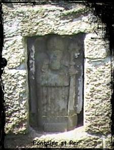 Saint Pierre evêque. dans Fontaine de guérison Ploumoguer-Lamber-font-st-Per