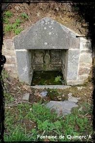 A Quimerc'h. dans Fontaines sacrées- Pont-de-buis-font-Quimerch