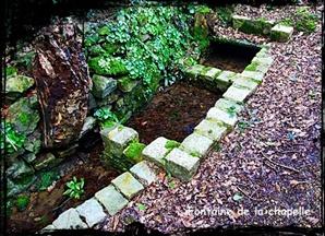 Sur le Garvan. dans Fontaines sacrées- Tregarvan-font-chapelle