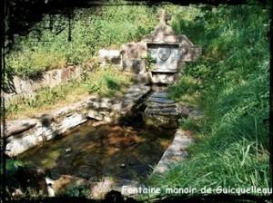 Belle au manoir. dans Fontaine surmontée d'une croix guicquelleau-fontaine-manoir-300x224